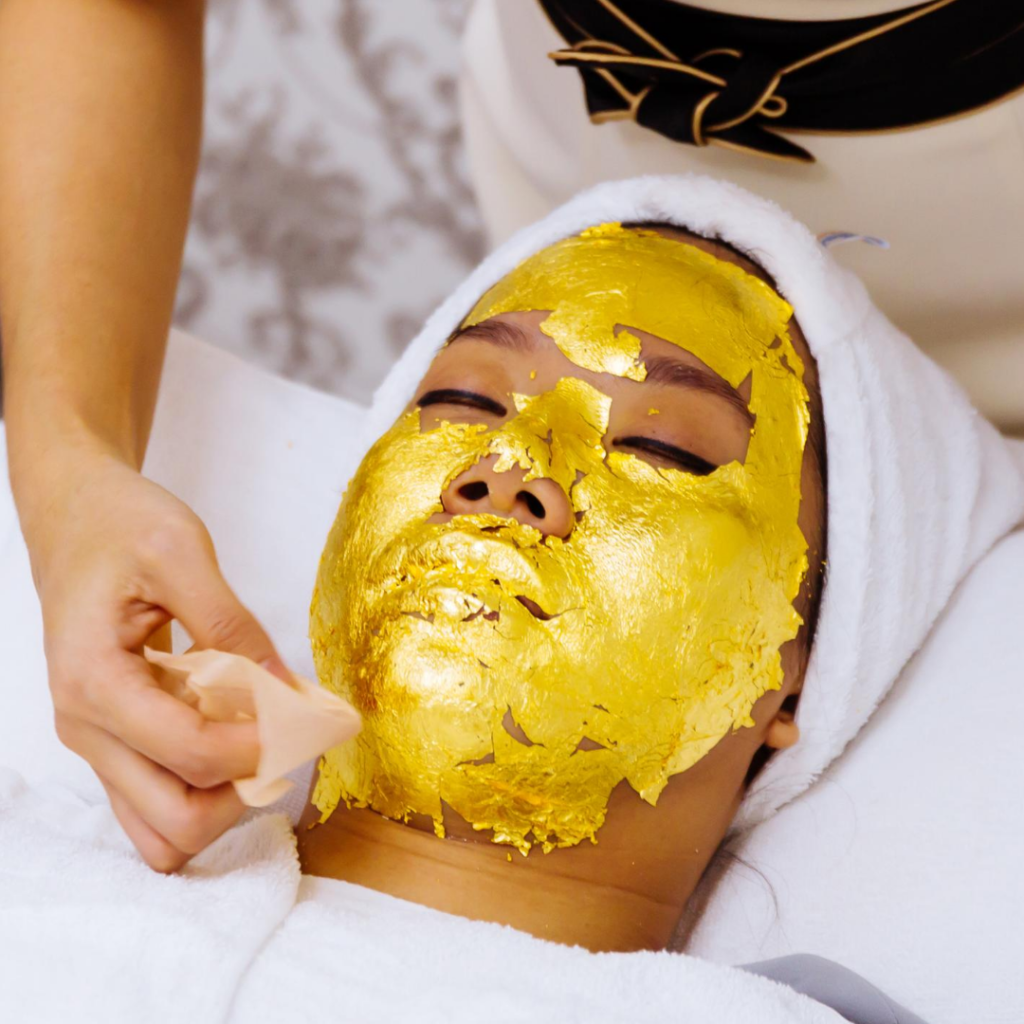 unusual skin care treatments gold leaf facial