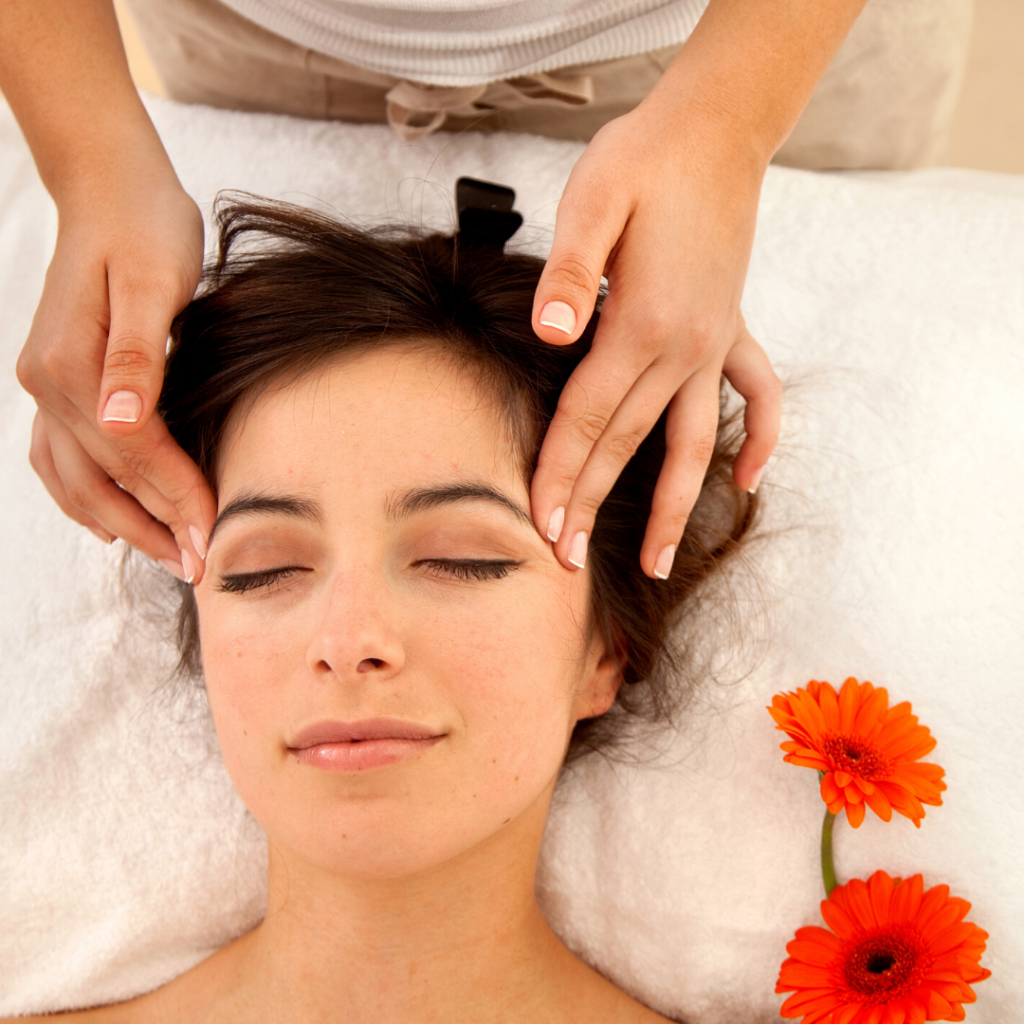 Facial with gerber daisies