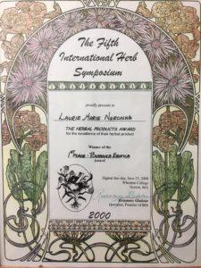 Internation Herb Symposium 2000 winner
