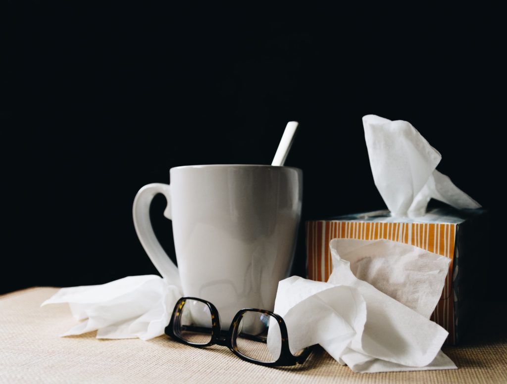 tissues with lotion for acne and colds