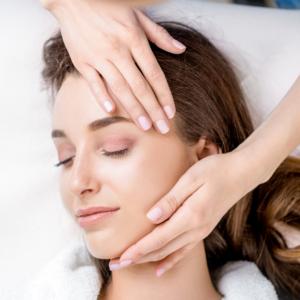 facial massage pink